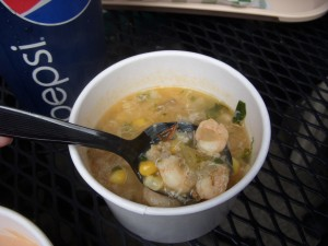 Market chowder close up