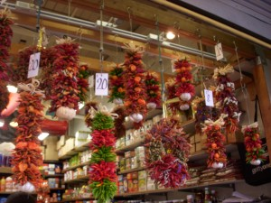 Dried pepper display