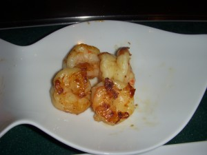 Tasty shrimp from the hibachi