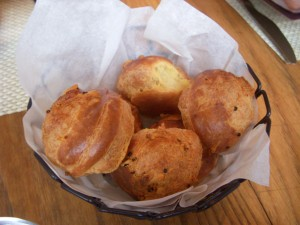 Puffy, crispy, and chewy gougeres