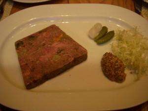 Lamb, eggplant, and sweet potato terrine