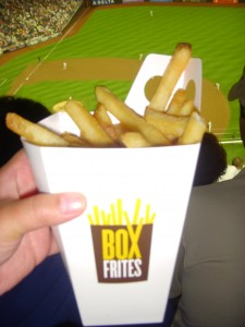 A large order of fries from Box Frites