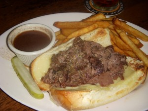 French dip with swiss cheese