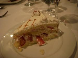 Strawberry shortcake for Hannah's birthday