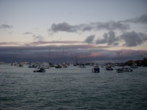 Leaving Puerto Ayora on the last zodiac