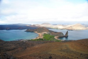 View of Bartolome Island and Pinnacle Rock