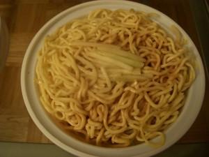 Bland cold sesame noodles