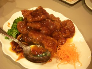 Peking style pork chops
