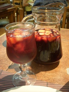 Refreshing and fruity sangria