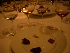 Four rums and four chocolates