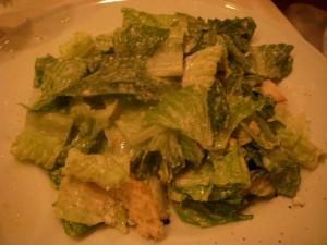 Caesar salad with creamy dressing