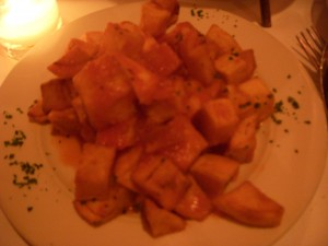 Poorly prepared patatas bravas