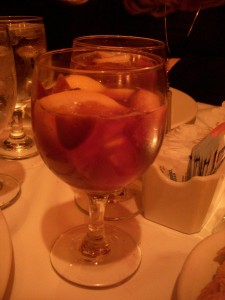 Red sangria with lots of fruit