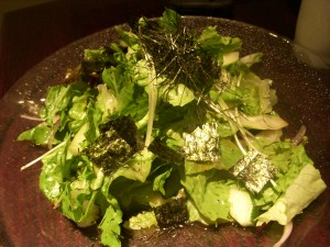 Nori salad with yuzu dressing