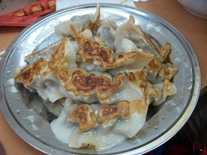 Thin-skinned pan-fried dumplings