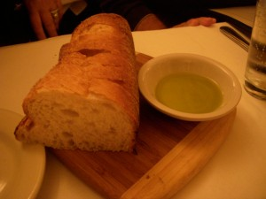 Good bread and olive oil
