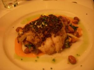 Porcini crusted cod