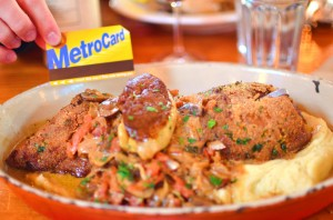 The stuffed pied de cochon vs. a Metrocard
