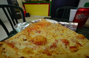 Jumbo slice from Pizza Mart