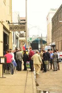 The long line outside Cochon Butcher
