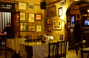 The interior of Napoleon House