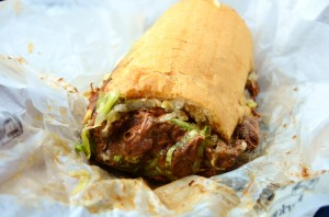 Huge roast beef po' boy