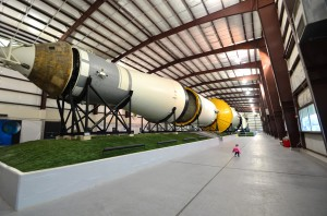 Saturn V rocket display (you can see how big it was compared to J in the background!)
