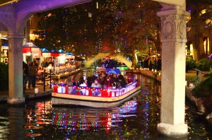 A boat on the River Walk