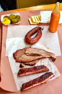 Assorted barbecued meats from City Market
