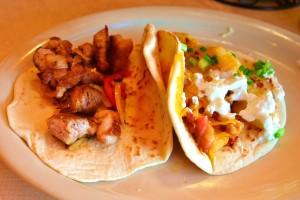 Carnitas taco and the Haven taco