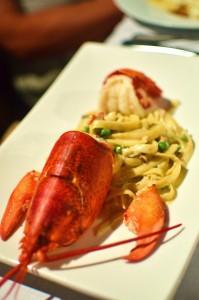 Lobster carbonara