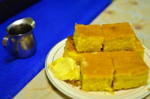 Cornbread with cane syrup