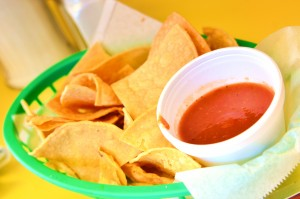 Chips and salsa at El Milagrito
