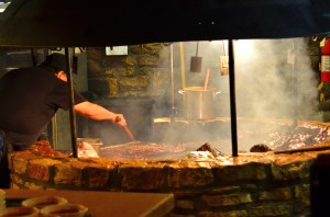 The barbecue pit at the Salt Lick