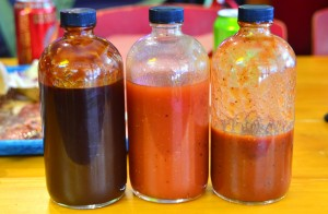 Barbecue sauces - espresso, sweet vinegar, Texas-style