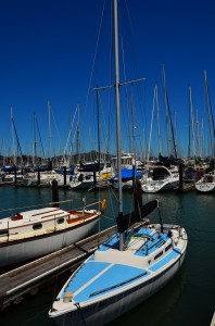 Boats by the Sausalito Yacht Club